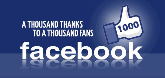 1K Facebook Likes - thanks