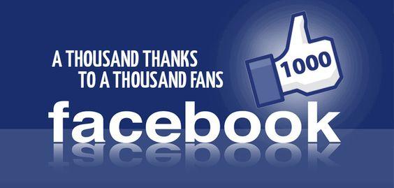 1K Facebook Likes - thanks